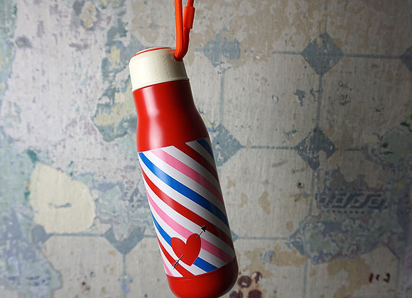 Rice, Thermotrinkflasche aus Edelstahl - Candy Stripes Print