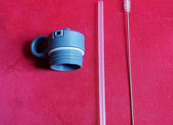 Liewood, Deckel, Strohhalm und Reinigungsbürste - Neo Water Bottle, Blue Wave