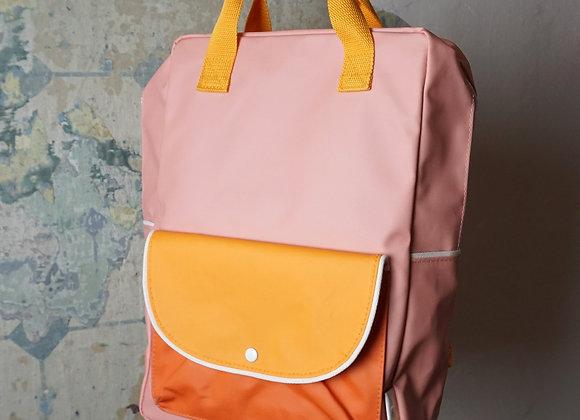 Sticky Lemon, Rucksack Large Backpack - candy pink, sunny yellow, carrot orange