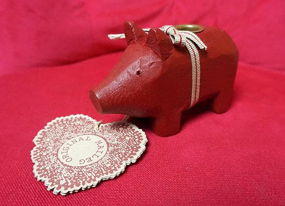 Maileg, Kerzenhalter - Holzschwein, Rot, small