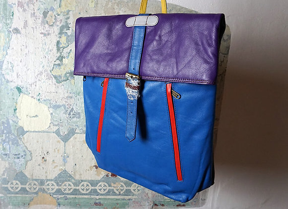 Soruka, Rucksack - Mochilla Grande Liso, Violett/Blau