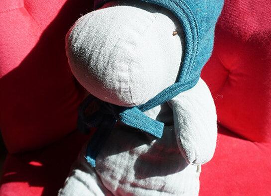 Engel, Warme Babymütze - 100% Schurwolle, petrolfarben