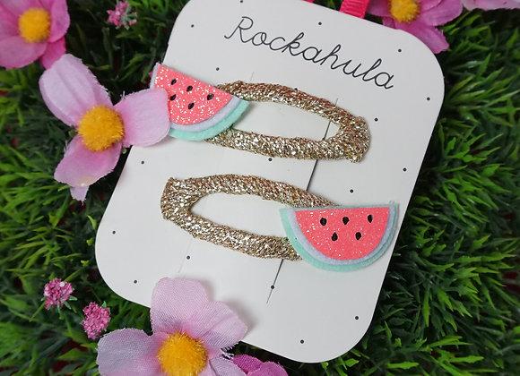 Rockahula Kids, Haarspangen - Little Watermelon Glitter Clips
