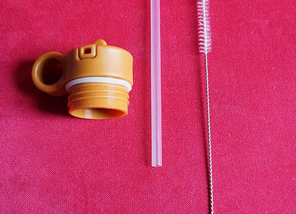 Liewood, Deckel, Strohhalm und Reinigungsbürste - Anker Water Bottle, Mustard