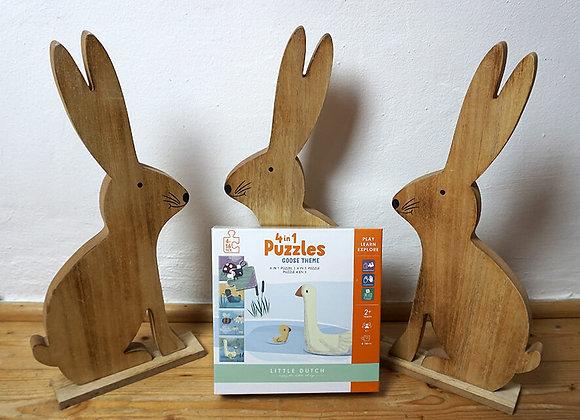 Little Dutch, 4 in 1 Puzzle - Goose Theme
