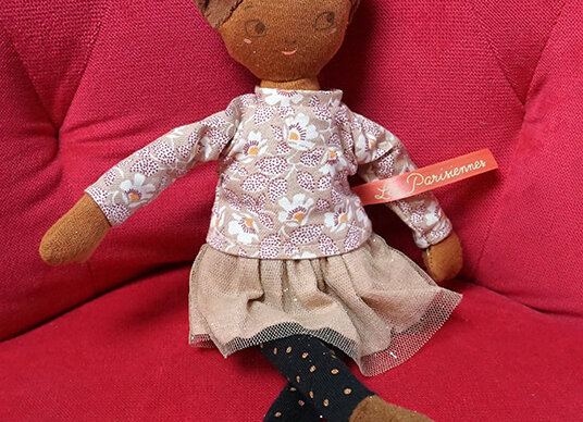Moulin Roty, Stoffpuppe Melle Rose - Les Parisiennes