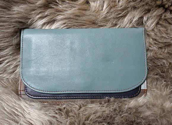 Soruka, Portemonnaie - Leather Wallet, Taubenblaugrau