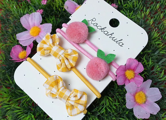 Rockahula Kids, Haargummis - Sweet Berry Pom Pom Ponies