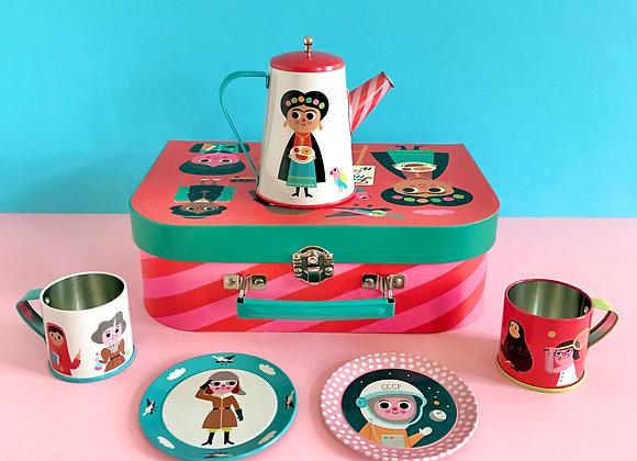 OMM Design, Tee-Service - Feminist Tin Tea Set