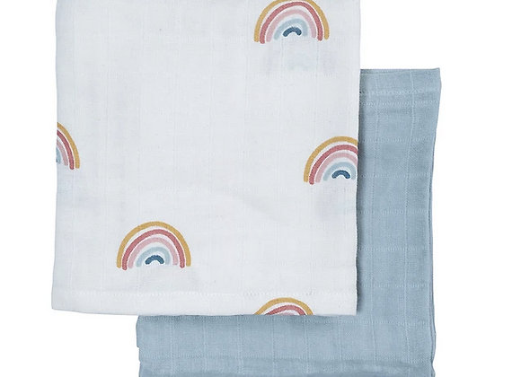 Fabelab, Swaddle Set Wickeltuch XL - Rainbow