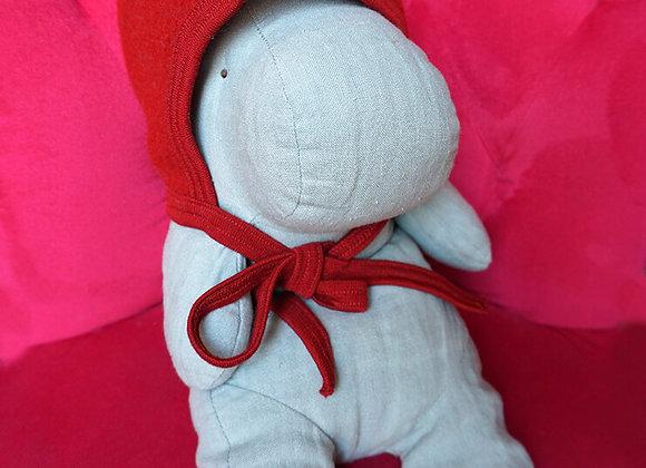 Engel, Warme Babymütze - 100% Schurwolle, dunkelrot