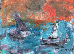 Kandinsky - Abstract Sailboats