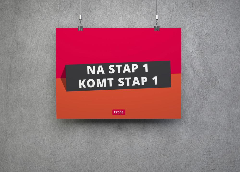 Na stap 1 komt stap 1