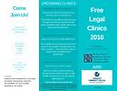 SN&T Legal Clinic Schedule 2016