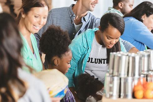 Volunteering in a kitchen