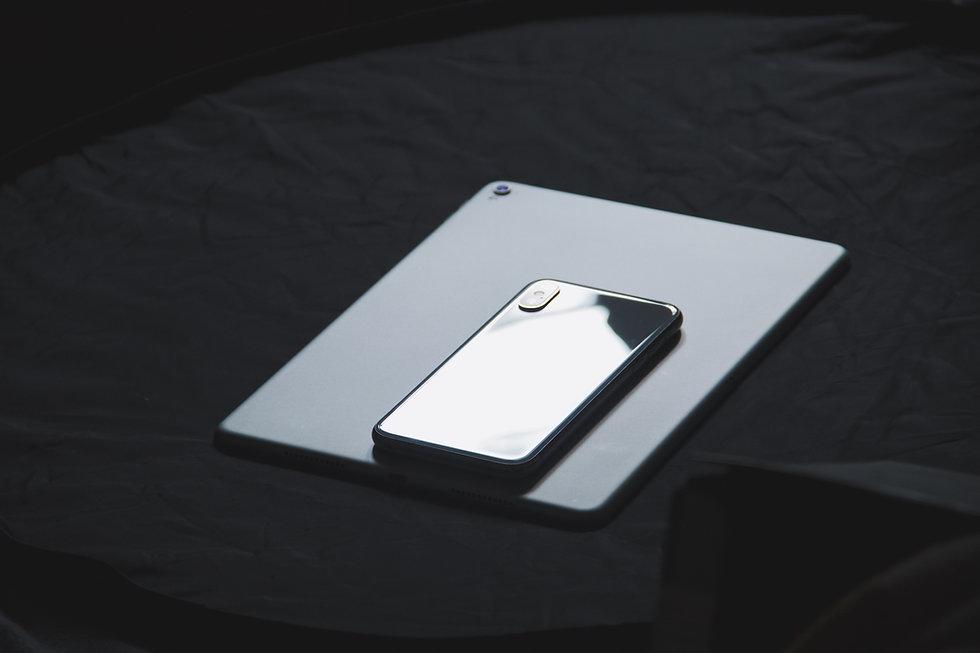 Web design photo with phone bacground