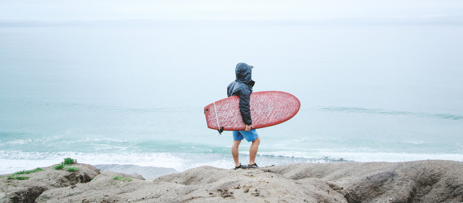 Surf's up. Winter time surfing