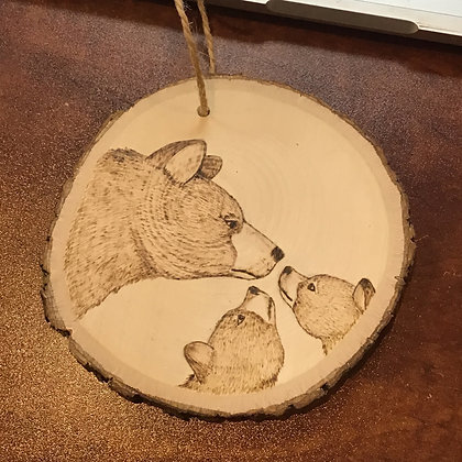 Ornament: Mama Bear + Two Cubs