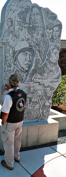 Observer Near Memorial