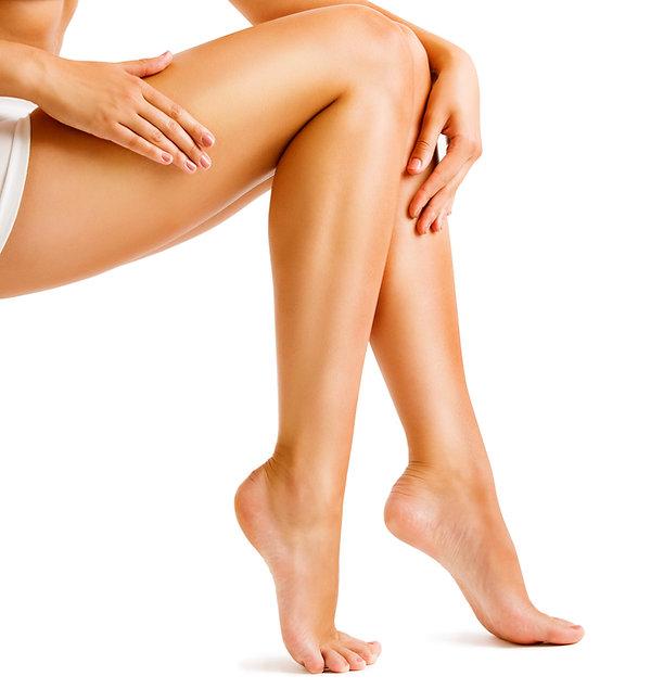 Legs-Smooth-Skin,-Woman-Touching-Hairles
