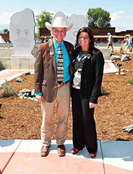 Governor Mark Gordon and with Jennifer Fernandez of Senator Lummis' Office