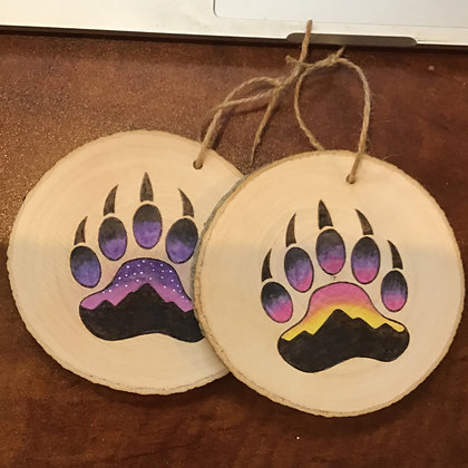 Ornament: Colored Bear Paw