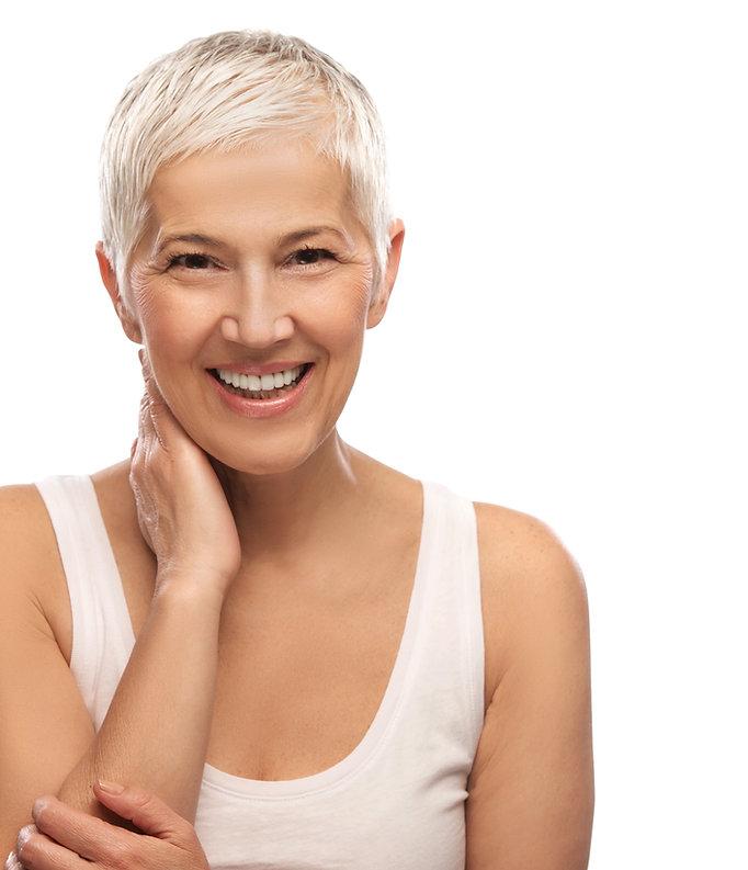 Portrait-of-a-beautiful-elderly-woman,-s