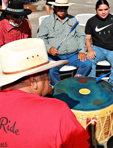 Governor Mark Gordon and Northern Arapaho Drum Group