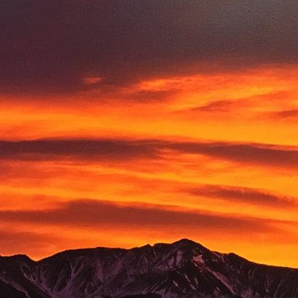 Kevin Helmholtz Wave Cloud Above White Mountains