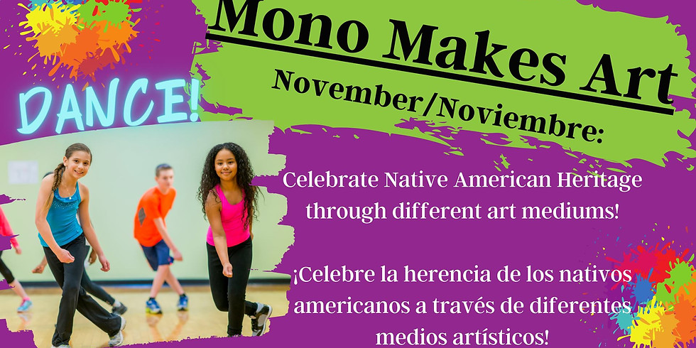 Mono Makes Art: Dance with Tajia for 6th-8th Grades