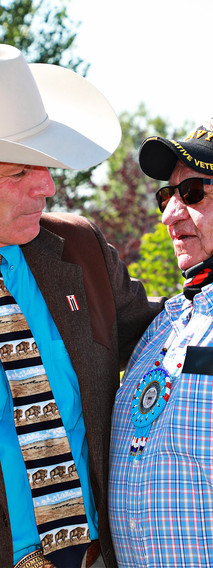 Governor Mark Gordon and Tribal Member