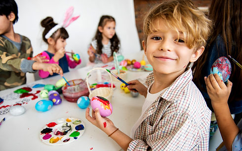 group-of-kids-painting-easter-eggs-68087