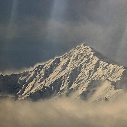 Mt. Tom Peaking Through Low Stratocumulus