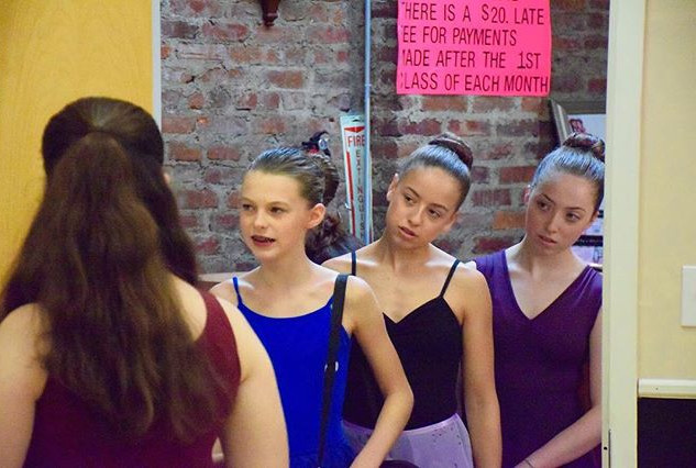 "Adèle Marie-Alix, Alina Cecilia, Destiny Cruz, and Maggie Stephens, behind the scenes of ""Gabrielle"" ©Kelly Meyer"