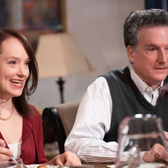 """Sarah Statler and Ed Altman as Charlotte's Parents on set of """"Biff & Me"""" ©Vanessa Clifton"""