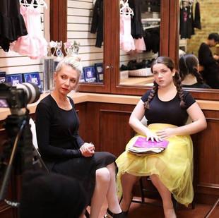 """Valeriya Korennaya (Madame Oksana) and Adèle Marie-Alix (Gabrielle), behind the scenes of """"Gabrielle"""" ©Abigail He"""