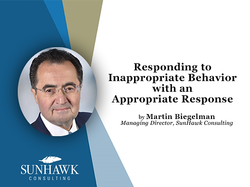 Responding to Inappropriate Behavior with an Appropriate Response by Martin Biegelman