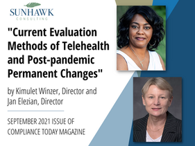 Kimulet Winzer and Jan Elezian Author Article for the September 2021 Issue of Compliance Today!