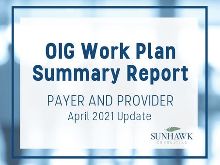 SunHawk's OIG Work Plan April 2021 Update