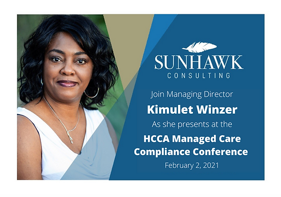 Join Kimulet Winzer at this year's HCCA Managed Care Compliance