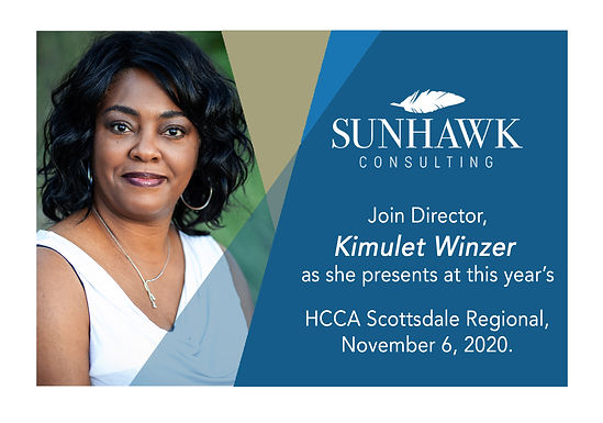 Scottsdale HCCA Regional Healthcare Compliance Conference 2020 with Kimulet Winzer