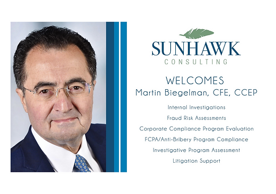 SunHawk Consulting Welcomes Martin Biegelman to the Team!