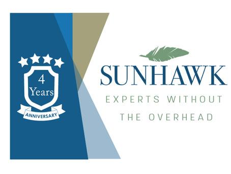 SunHawk Consulting celebrates its 4 Year Anniversary!