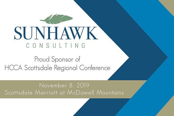 SunHawk Consulting Sponsors 2019 HCCA Scottsdale Regional