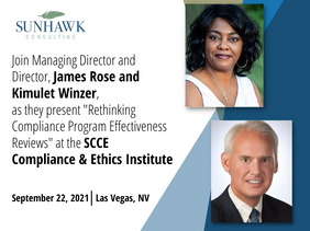 James Rose and Kimulet Winzer presenting at the 2021 SCCE Compliance & Ethics Institute