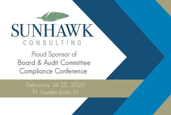 SunHawk Consulting Sponsors 2020 Board & Audit Committee Compliance Conference