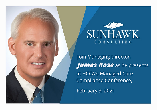 Join James Rose at the 2021 HCCA Managed Care Compliance Conference