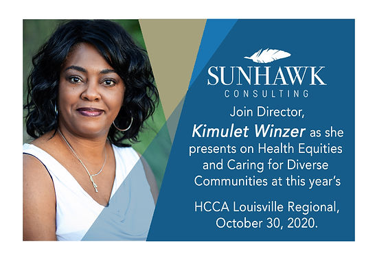 Join Kimulet Winzer as she Presents on Health Equities and Caring for Diverse Communities.