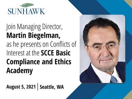 Martin Biegelman Presents at the SCCE Basic Compliance & Ethics Academy in Seattle, WA