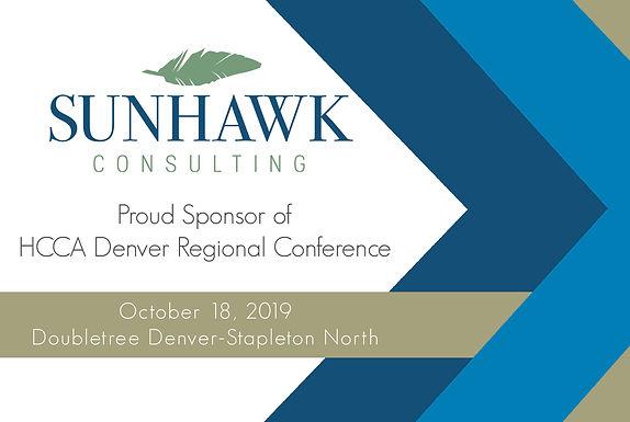 SunHawk Consulting Sponsors 2019 HCCA Denver Regional